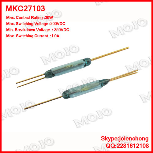 MKC27103  reed switch normally open & closed transformational 3 pins magnet switch  (5pcs/lots)