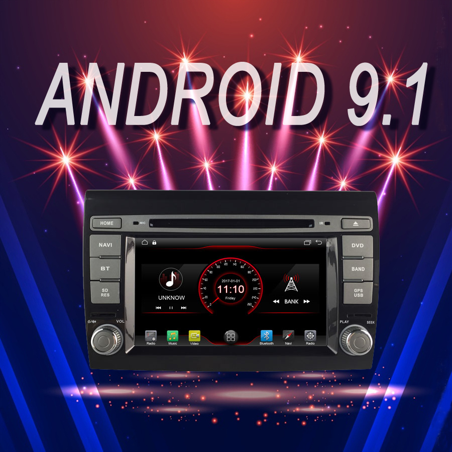 car multimedia Player Android 9.1 Car GPS Bluetooth stereo fit for FIAT BRAVO 2007 2012 tape recorder DVD autoradio Head Unit