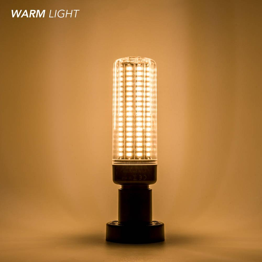 E14 кукурузная лампа E27 светодиодные лампы 220 В B22 Высокая мощность 28 40 72 108 132 156 189 Светодиоды SMD 5736 лампада LED 110 В без мерцания 85-265 в - Испускаемый цвет: Warm white