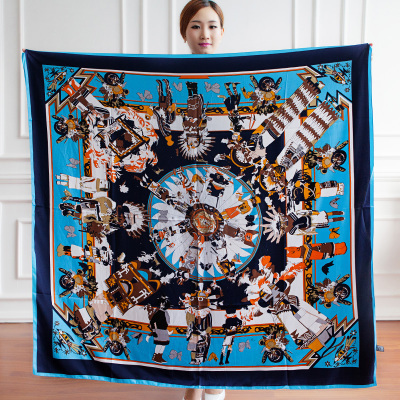 Большой платок 130*130 СМ шелковые шарфы Марка шарф Мыс верховая шарфы cachecol женщина для Женщин