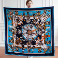 Large shawl 130*130CM scarves silk  Brand scarf Cape horse scarves cachecol feminino Women