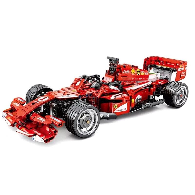 RC F1 voiture de course Compatible Legoing Technic ville modèle blocs de construction garçons cadeaux d'anniversaire télécommande voiture jouets pour enfants-in Blocs from Jeux et loisirs    2