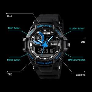 Image 4 - SKMEI Digital Watch Men S Shock Sports Watches Military Waterproof Big Dial Dual Display Quartz Clock Men Relogio Masculino 1357