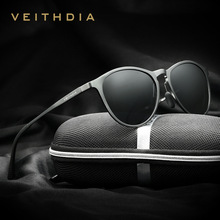Veithdia retro vintage diseñador de la marca gafas de sol de los hombres/mujeres masculinas gafas de sol gafas gafas de sol masculino