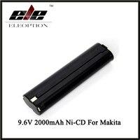 Eleoption 9.6 볼트 2000 미리암페르하우어 충전식 배터리 교체 전원 도구 배터리 마키 9000 9001 6092D 2.0Ah 니켈-CD 블랙