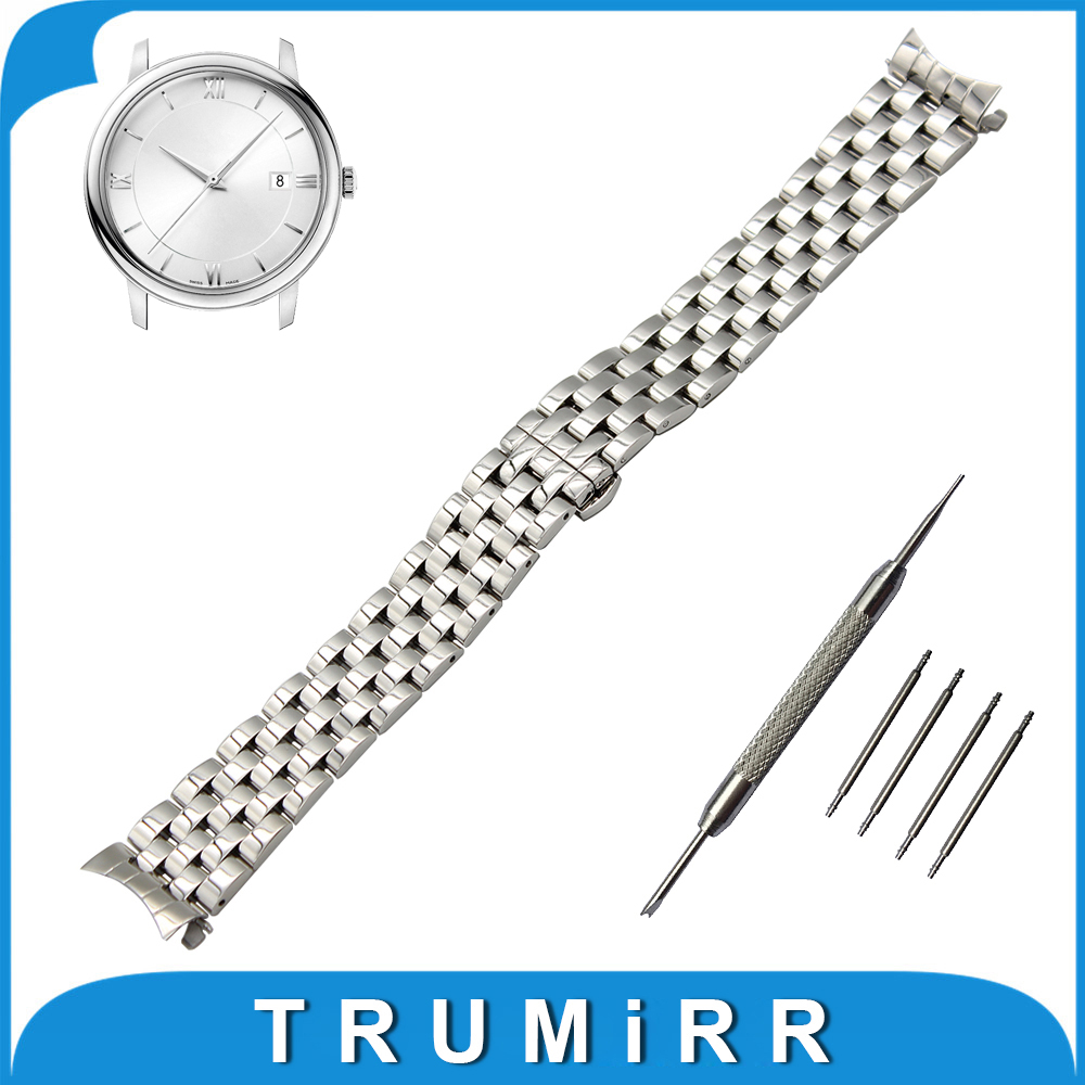 18mm 20mm 22mm Stainless Steel Watch Band Curved End Strap for Omega Watchband Butterfly Buckle Belt Replacement Wrist Bracelet stainless steel watch band 18mm 20mm 22mm for rolex curved end strap butterfly buckle belt wrist bracelet black gold silver