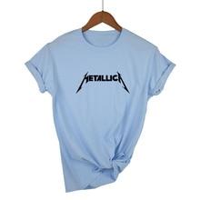 Metallica Música Hetfield Thrash Cam Heavy Manga T Metal De Corta Camisa Rock Camiseta Mujer Banda La Grado James wfIABx