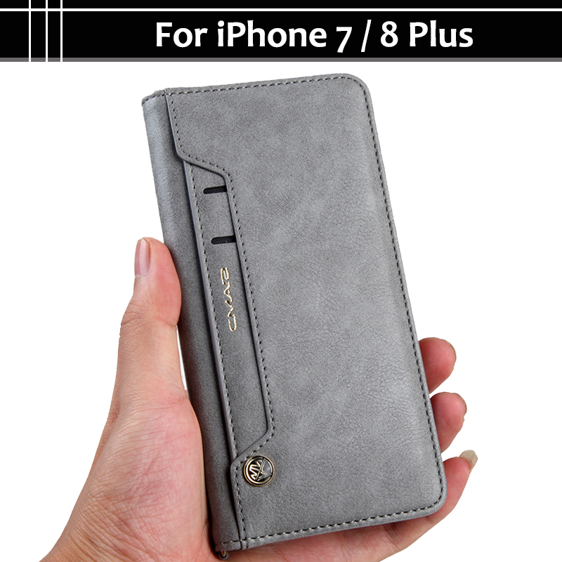 reputable site 7fc30 2b53e EiiMoo Luxury Flip Leather Case For iPhone 7 7Plus iPhone7 Plus Cover Stand  Card Wallet Phone Case For Apple iPone 7 Plus Case 8-in Flip Cases from ...
