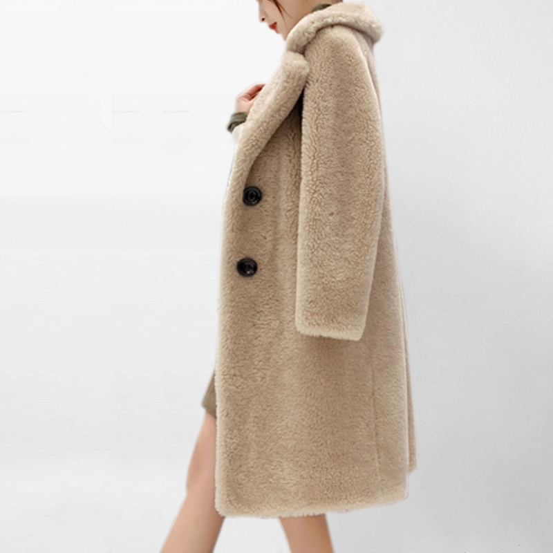 Imitation Lamb Fur Coat In The Long Section Sheep Shearing Coat New Winter Fur One 2019 Autumn And Winter Women's Fake Fur Coat