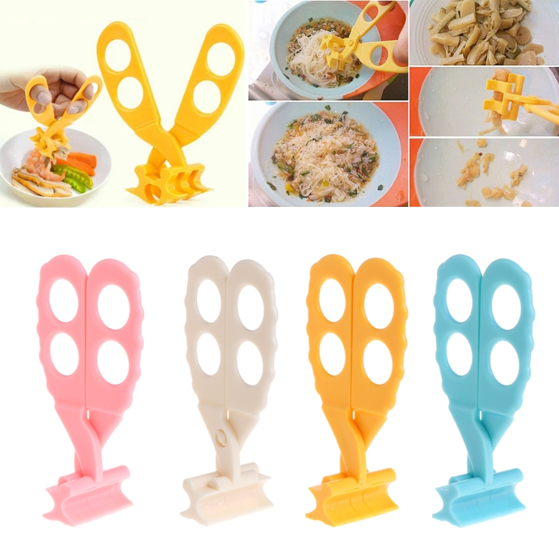 YAS Professional Safe Care Crush Baby Kids Cut Food Shears Feeding Toddlers Scissors