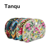 Tanqu Floral Waterproof Canvas Fabric Inner Pocket Lining For Omoon Light Obag Handbag Insert Organizer For