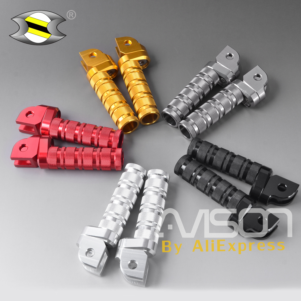 Motorcycle Footpeg Front Footrest Foot Pegs For HONDA MSX125 MSX125SF CB150R CB300 CB400 CB500X CB650F CB1300 CNC