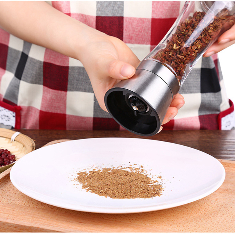 Stainless steel spice grinder manual salt and pepper mill convenient salt spice mill grinder - Novelty pepper grinder ...
