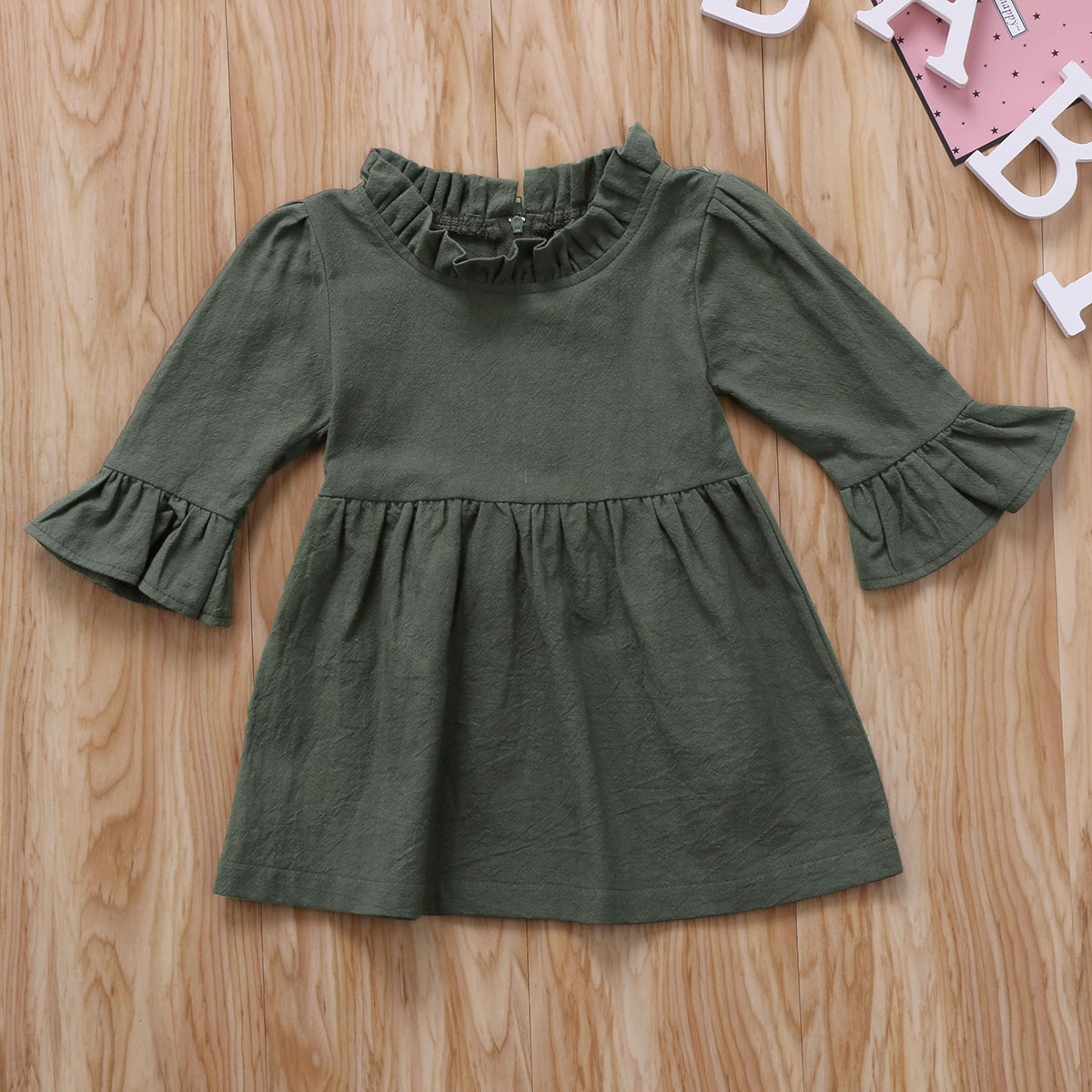 Infant Toddler Girls Long Sleeve Outfits 0-4T