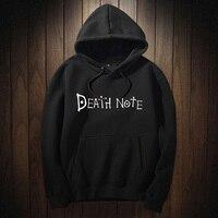 Anime Death Note Hoodie Male Letter Hoodies And Hooded Sweatshirt Men S Winter Fleece Clothing Punk