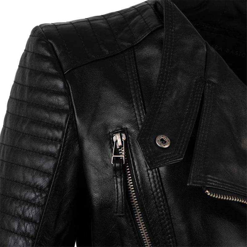 Cuir Survêtement Mode 2018 Qualité Femmes Street De Courte Automne Moto Style En Haute Veste Top Ew7aqA1F