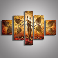 Modern Hand Painted Oil Paintings Abstract Tree Nude Hug Lover Painting Indoor Wall Art Picture Home