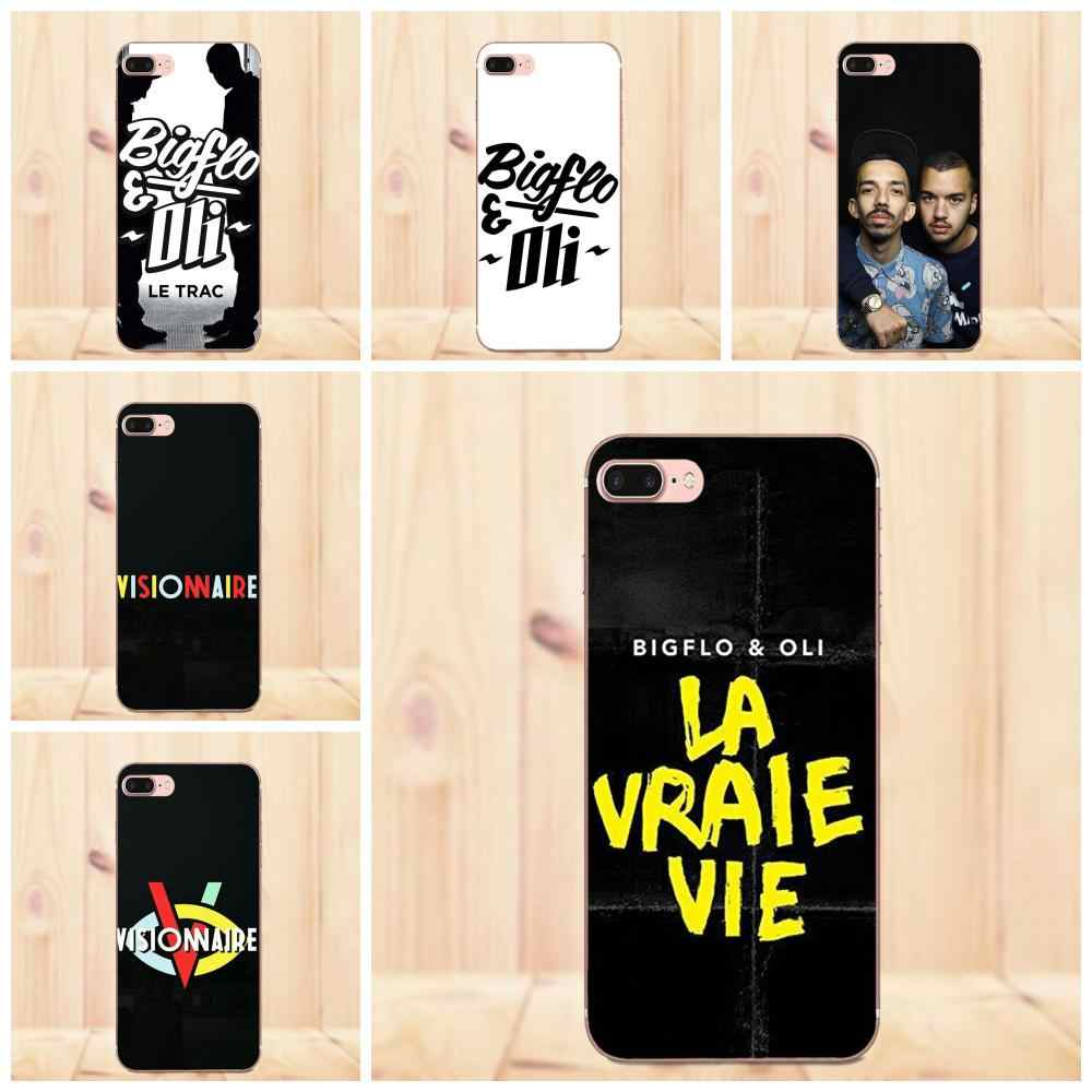 Maerknon Bigflo & Oli pour Apple iPhone 4 4 S 5 5C 5 S SE 6 6 S 7 8 Plus X coques de protection en Silicone souple TPU Transparent