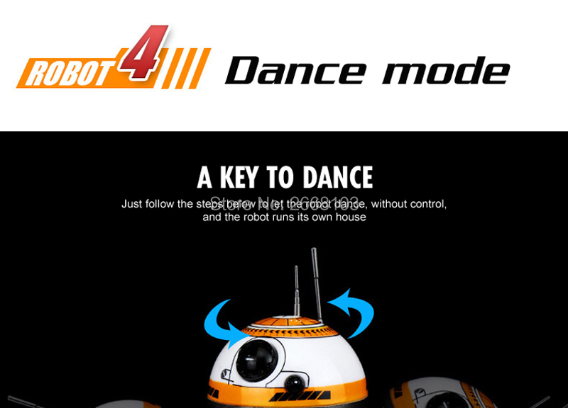Upgrade Model Ball Star Wars RC BB-8 Droid Robot BB8 Intelligent Robot 2.4G Remote Control Toys For Girl Gifts With Sound Action 9