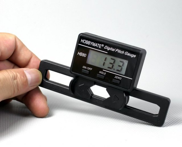 Free Shipping Hobbymate Brand New Digital Pitch Gauge for FBL helis