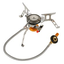 Outdoor Portable Folding Camping Hiking Gas Stove Ultralight Stainless Steel Outdoor Burns Hiking Picnic Cooking Stove Equipment цена и фото