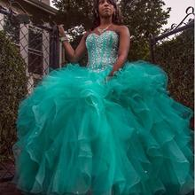 XGGandXRR Sexy Green Ball Gown Quinceanera Dresses 2019