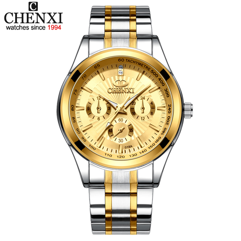 CHENXI Men Luxury Brand Watches Mens Quartz Watch Full Steel Wristwatches Man Fashion Business Clock Male relogio masculinoCHENXI Men Luxury Brand Watches Mens Quartz Watch Full Steel Wristwatches Man Fashion Business Clock Male relogio masculino