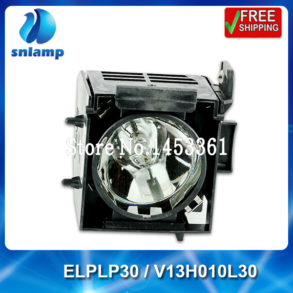 100% Original projector lamp ELPLP30 / V13H010L30 with housing for PowerLite 61p 81p 821p EMP-61+ EMP-61 EMP-81 EMP-81+ ... replacement projector lamp with housing elplp23 v13h010l23 for epson emp 8300 emp 8300nl powerlite 8300i powerlite 8300nl