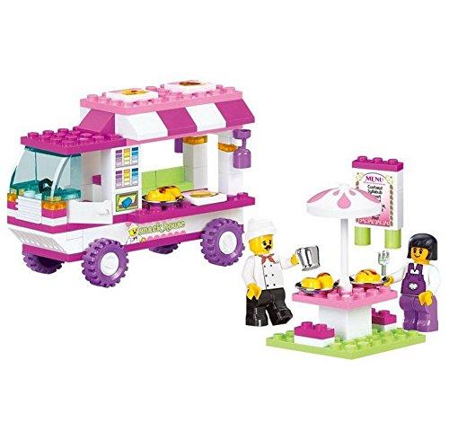 102 gabali celtniecības bloka meitenes sapnis uzkodas auto princis karaliene princese pils modelis DIY radošas meitene rotaļlietas