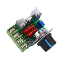 цена на 2000W AC 50-220V High Power Motor Speed Regulator Brushless Electronic Voltage Regulator Thyristor Dimmer Thermoregulation