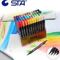 Double Headed12 24 36 48Art Brush Sketch Marker Pens Water Based Ink Twin Tip Marker