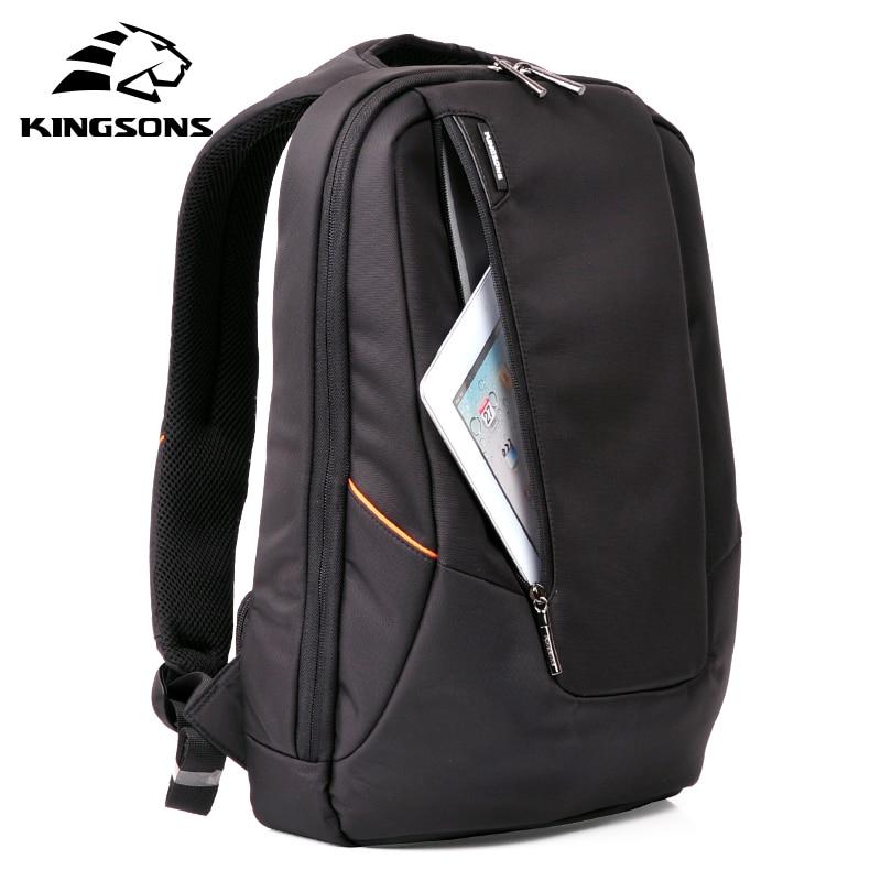 Kingsons Candy Black Laptop Backpack Man Daily Rucksack Travel Bag School Bags 15.6 inch Women Bagpack Mochila Feminina цена