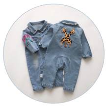 2017 Soft Denim Baby Romper Graffiti  Infant Clothes Newborn Jumpsuit Babies Boy Girls Costume Cowboy Fashion Jeans Children