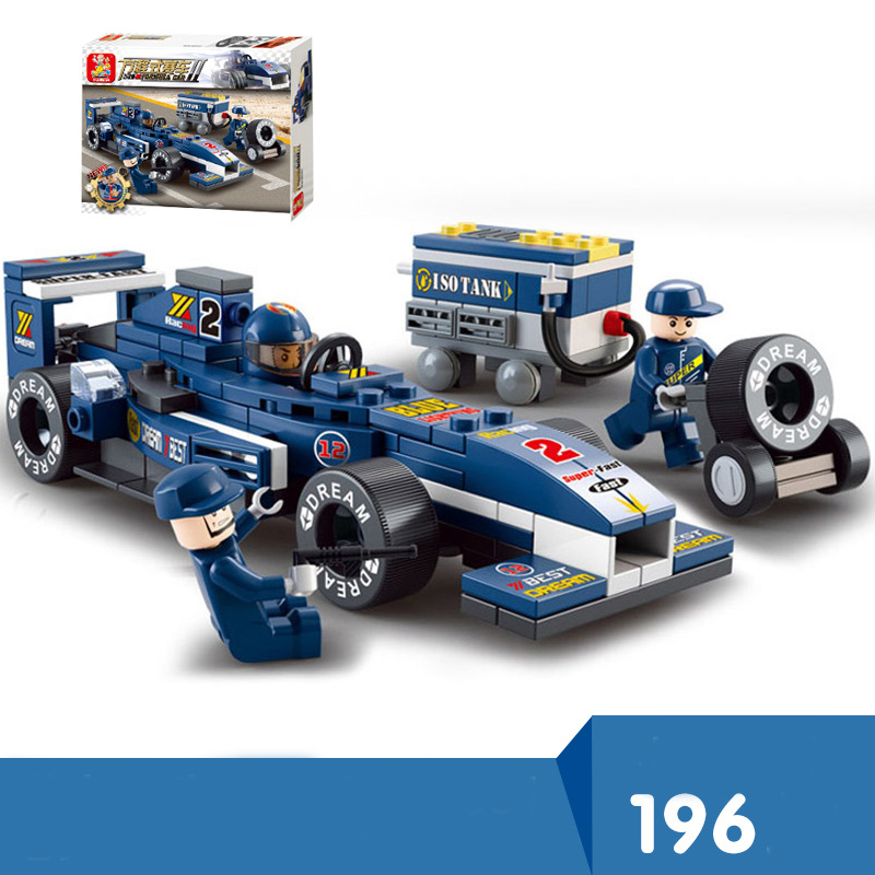 US $13 49 | F1 Racing Car Model Building Block Set 3D Construction Diy  Brick Toys For Children Compatible With LegoING Creator-in Blocks from Toys  &
