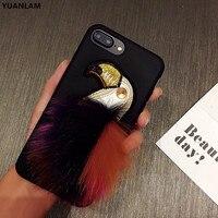 Para o iphone 8 plus Caso Papagaio De Pelúcia caso Capa de pele de raposa para A Apple iPhoneX 6 sPlus 7 Plus capa de Borracha de Silicone Para tampa iPhone7