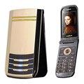 TKEXUN G2 Flip dual sim tarjeta de vídeo DV luz de respiración celular desbloqueado mp3 radio teléfono móvil de pantalla táctil de escritura a mano P280