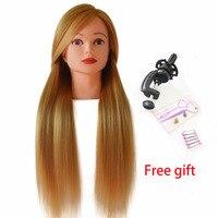 волосы для кукол 24 дюйма длинные светлые учебная голова манекен голова для тренировки парикмахеров голова маникен голова манекена для прод...
