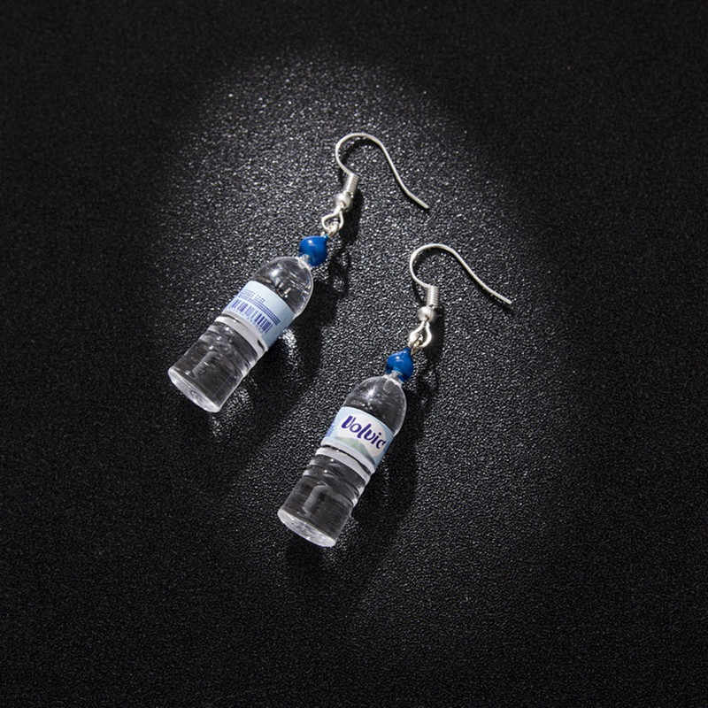 Personalized mineral water bottles earrings beer bottles cute simple and elegant earrings two style 4 colors fashion ear jewelry