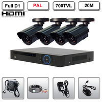 Home CCTV Security System 4 Camera Bullet KIT 700TVL Full D1 HDMI DVR System