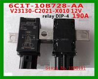 6C1T 10B728 AA V23130 C2021 X010 12V HFV12 12 H D HFV12/12 H D 8C19 10B728 AA 12V 190A relay DIP 4
