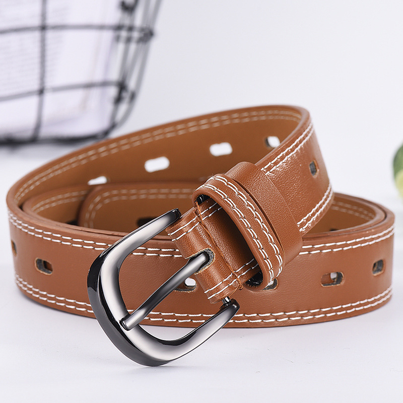 Ladies belt casual Korean version of the hollow belt retro ladies clothing clothing pants belt without punching in Women 39 s Belts from Apparel Accessories