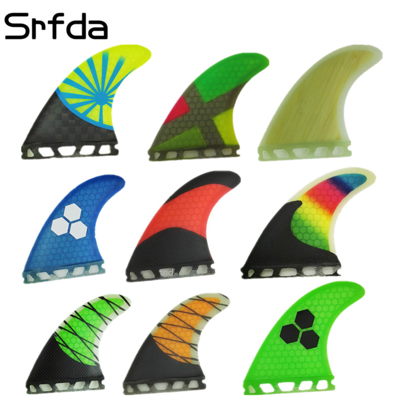 srfda free shipping fiberglass and honeycomb surfboard fin thruster Future G3 G5 G7 fin surf fins size S/ M/L fins  Top qual hot sale future fin honeycomb surf quad fins in surfing surfboard quilhas free shipping