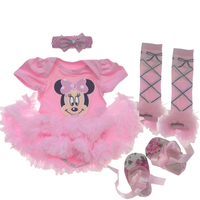 Baby Girl Clothing Sets Minnie Dress Tutu Romper 2018 Birthday Clothing Bebes Birthday Party Costumes First Girl Infant Sets