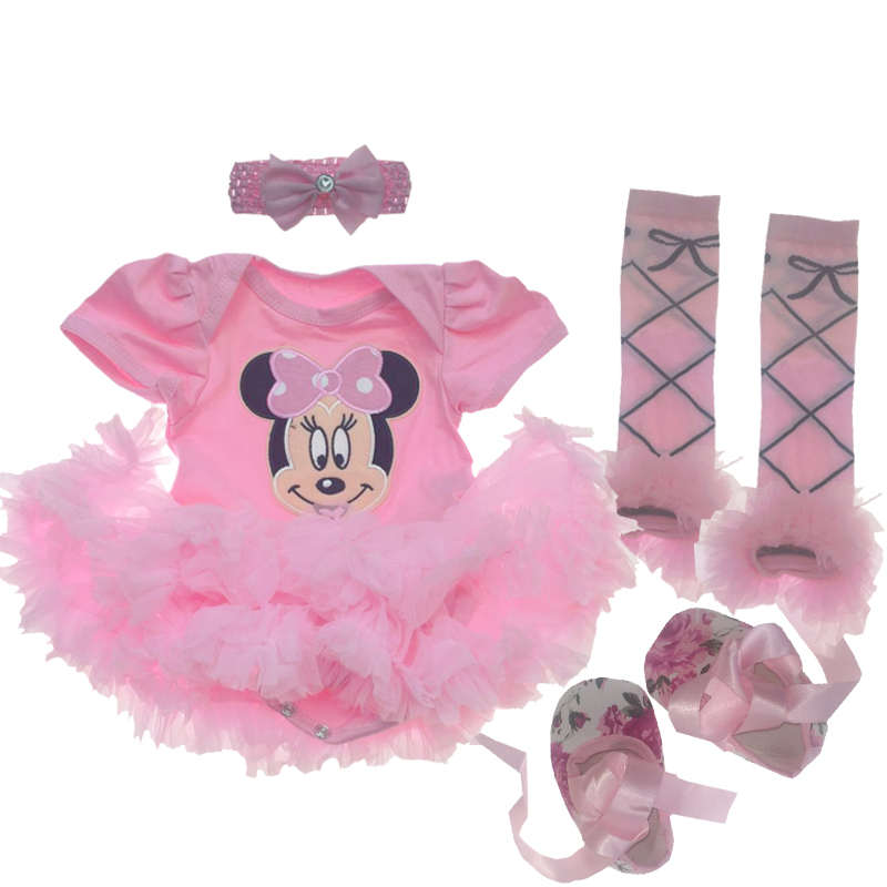 Baby Girl Clothing Sets Minnie Dress Tutu Romper 2018 Christmas Clothing Bebes Christmas Party Costumes First Girl Infant Sets