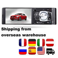 Wheel Control fast HD 1 din Car FM/USB/TF/EQ MP3/MP4 Player hot sale Bluetooth 4.1'' Radio Stereo overseas warehouse