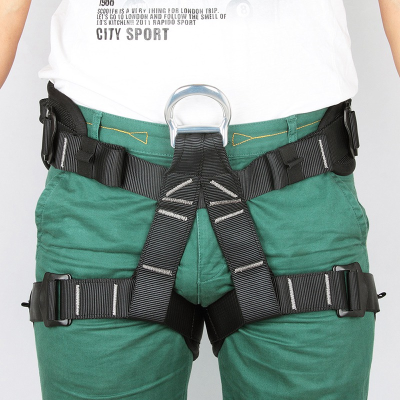 Hot Sale Safety Body Harness Outdoor Mountaineering Rock Climbing Harness Protect Waist Seat Belt Outside Multi Tools