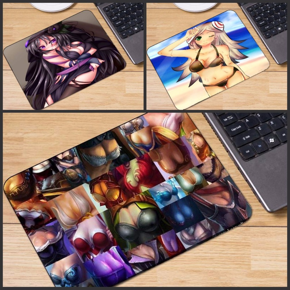 Yuzuoan Sexy Breasts League of Legends Cool Mouse Pad Soft Rubber Gaming Mice Mat PC Computer Mousepad For Christmas Gift