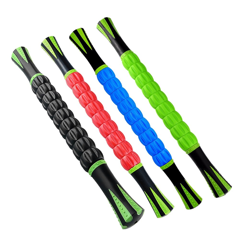 Muscle Massage Roller Stick Full Body Muscle 3D Massager for Relief of Muscle Soreness Fascia Sacroiliac Joint Fitness Tool peanut shaped ball massager roller dual connecting balls muscle relax massage gym sport full body bar sport yoga fitness tool