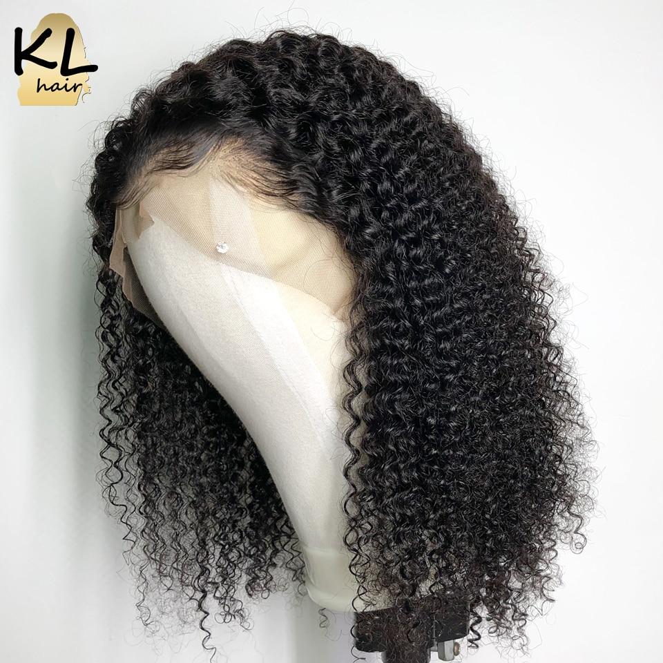 KL Kinky Curly ลูกไม้ด้านหน้าด้านหน้ามนุษย์ Wigs สำหรับผู้หญิงสีดำ Pre Plucked บราซิล Remy ผม 13x4 ลูกไม้วิกผมด้านหน้ากับผมเด็ก-ใน วิกลูกไม้ผมจริง จาก การต่อผมและวิกผม บน AliExpress - 11.11_สิบเอ็ด สิบเอ็ดวันคนโสด 1