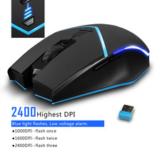 Wireless 2.4G mouse 2400DPI wireless optical mouse left and right hand universal computer mouse  wireless gaming mouse dostyle md208 2 4g wireless mouse silver